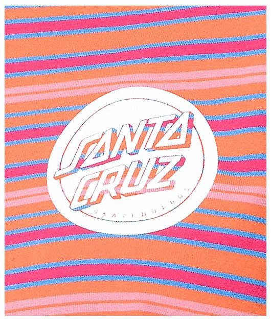Santa Cruz Reverse Dot Orange, Blue & Pink Long Sleeve T-Shirt