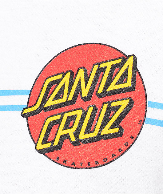 Santa Cruz Screaming Dot White T-Shirt