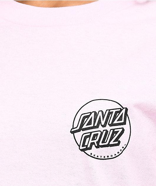 Santa Cruz Screaming Party Hand Light Pink Long Sleeve T-Shirt