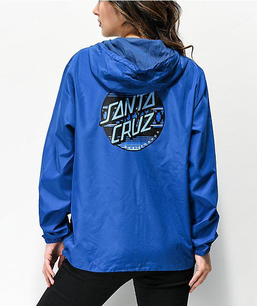 Santa Cruz Serape Dot Blue Windbreaker Jacket