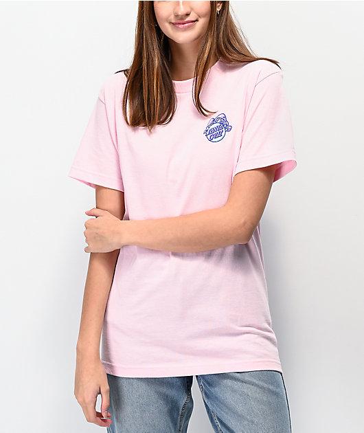 Santa Cruz Shroom Dot Pink T-Shirt