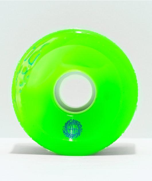 Santa Cruz Slime Balls OG 66mm 78a Translucent Green Cruiser Wheels