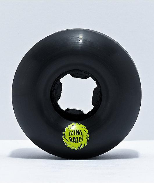 Santa Cruz Slime Balls Vomit Mini 54mm, 97a Black Cruiser Wheels