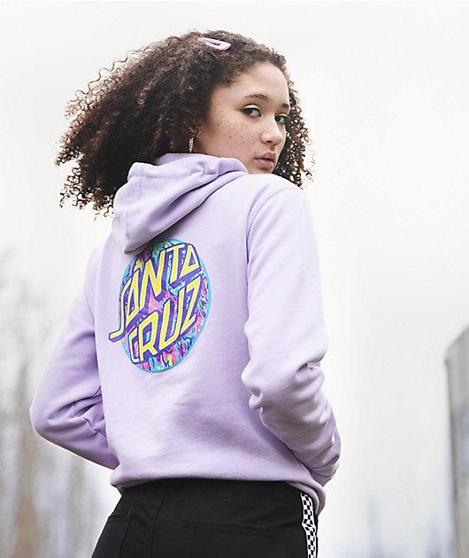 Santa Cruz Spill Dot Lavender Hoodie