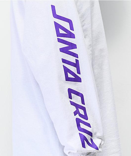 Santa Cruz Spill Hand White Long Sleeve T-Shirt