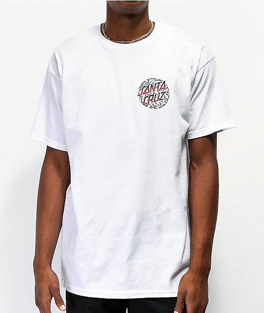 Santa Cruz Storm Dot White T-Shirt
