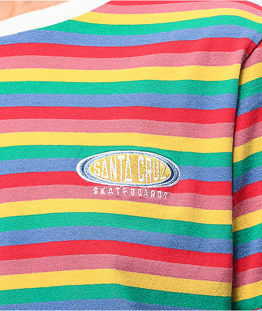 Santa Cruz Sunny Rainbow Striped T-Shirt