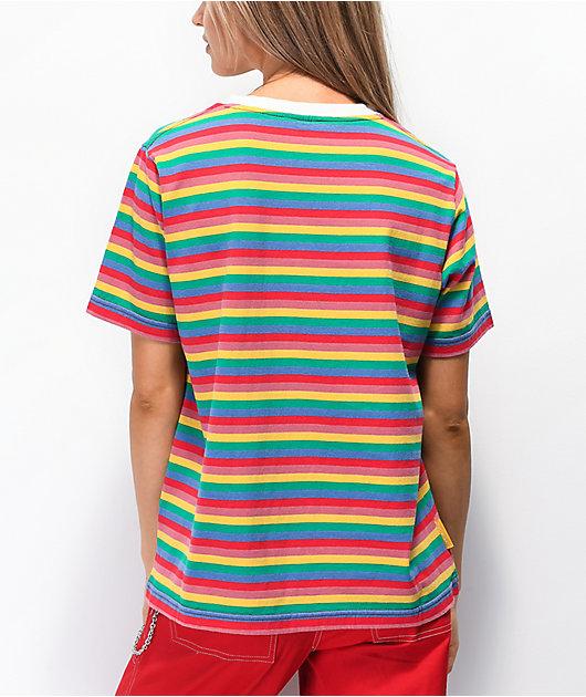 Santa Cruz Sunny camiseta arcoiris a rayas