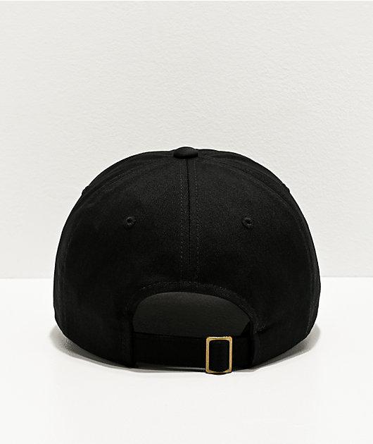 Santa Cruz Tie Dye Dot Black Strapback Hat