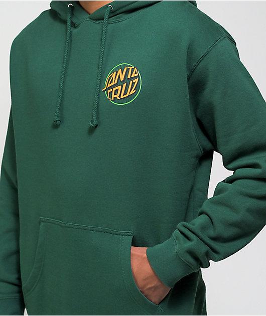 Santa Cruz Toxic Hand Dark Green Hoodie