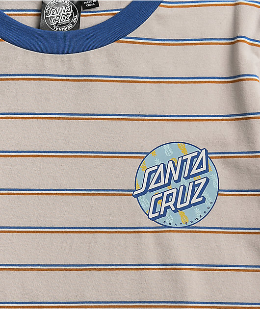 Santa Cruz Tropic Dot Clement Stripe T-Shirt