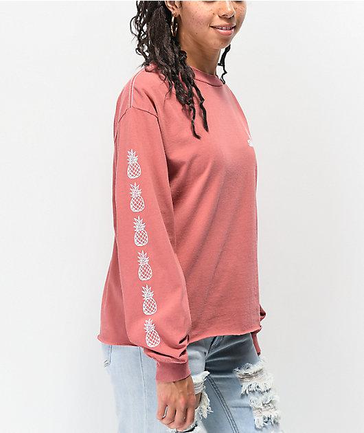 Santa Cruz Tropics Pink Long Sleeve T-Shirt