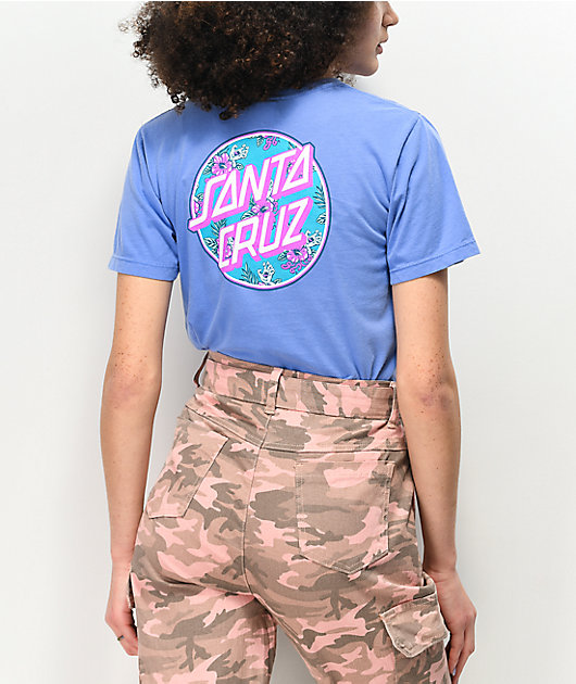 Santa Cruz Vacation Dot 2 Washed Blue T-Shirt