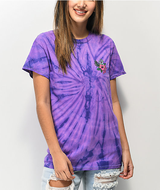 Santa Cruz Vacation Dot Purple Spider Tie Dye T-Shirt