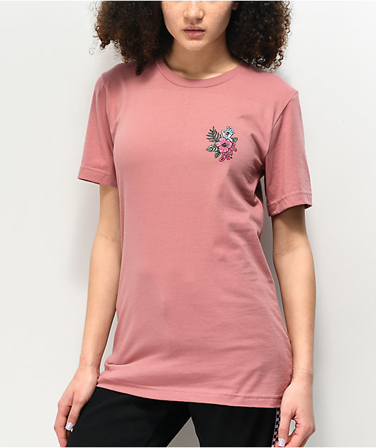 Santa Cruz Vacation Dot camiseta malva