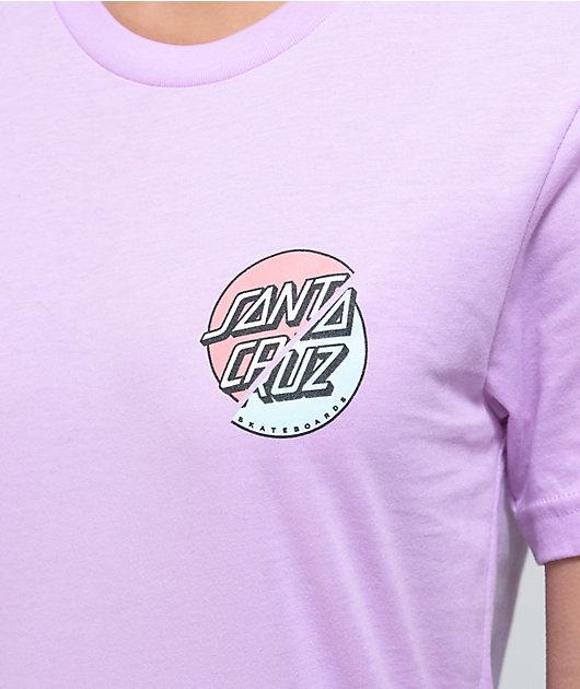Santa Cruz Wave Dot Splice Lilac T-Shirt