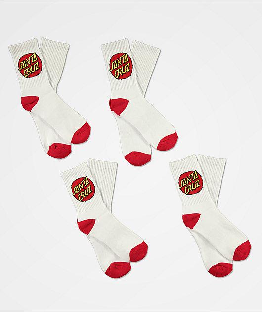 Santa Cruz paquete de 4 calcetines blancos para niños