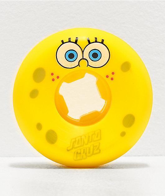 Santa Cruz x SpongeBob SquarePants Face 53mm 97a Skateboard Wheels
