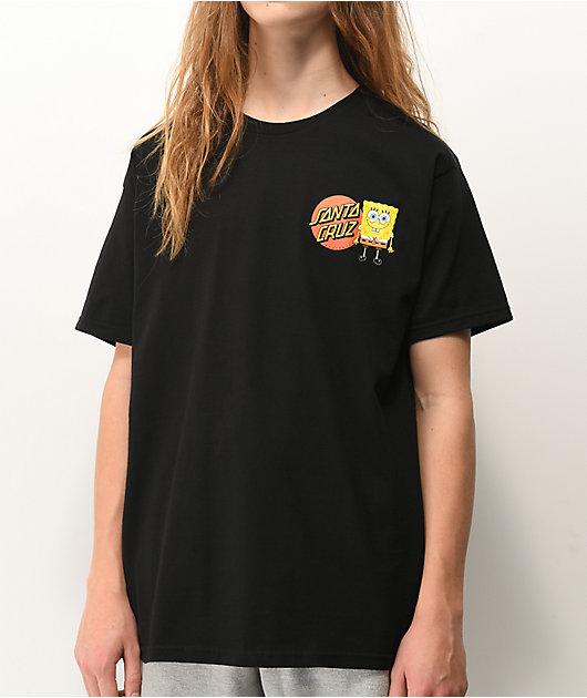Santa Cruz x SpongeBob SquarePants Group Black T-Shirt