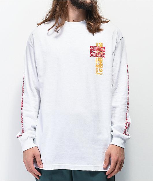 Santa Cruz x Spongebob Squarepants Lounge camiseta blanca de manga larga