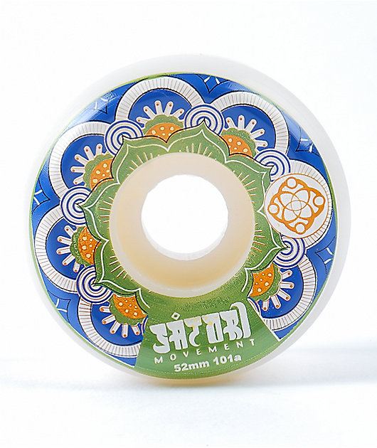 Satori Mandala 52mm 101a Blue Skateboard Wheels