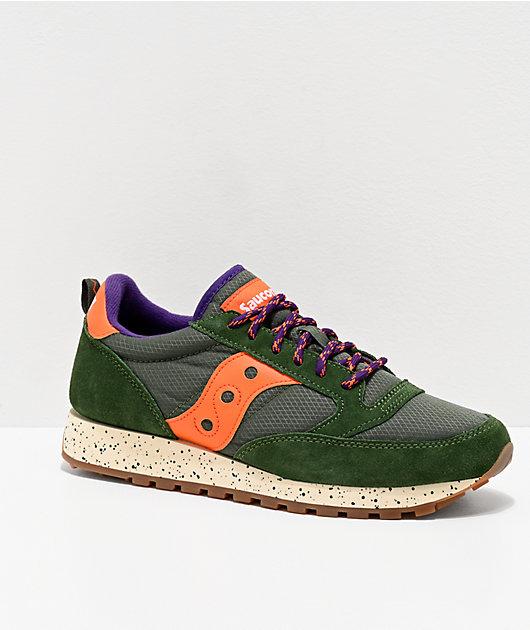 Saucony Jazz Original Climbing Green & Orange Shoes