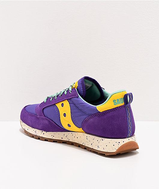 Saucony Jazz Original Climbing Purple & Yellow Shoes