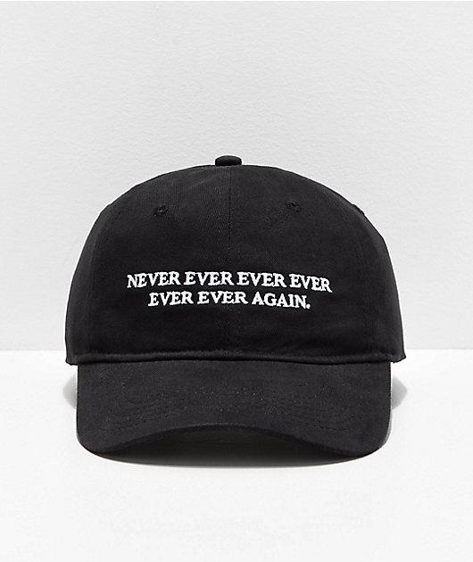 Sausage Never Ever Ever Black Strapback Hat