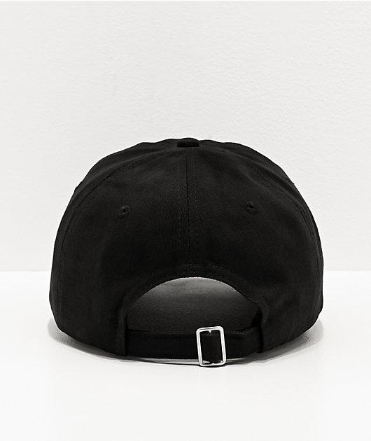 Sausage Rose Script Black Strapback Hat