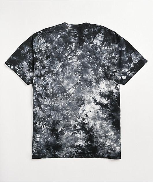 Shaka Wear Max Heavy Weight Black & White Tie Dye T-Shirt