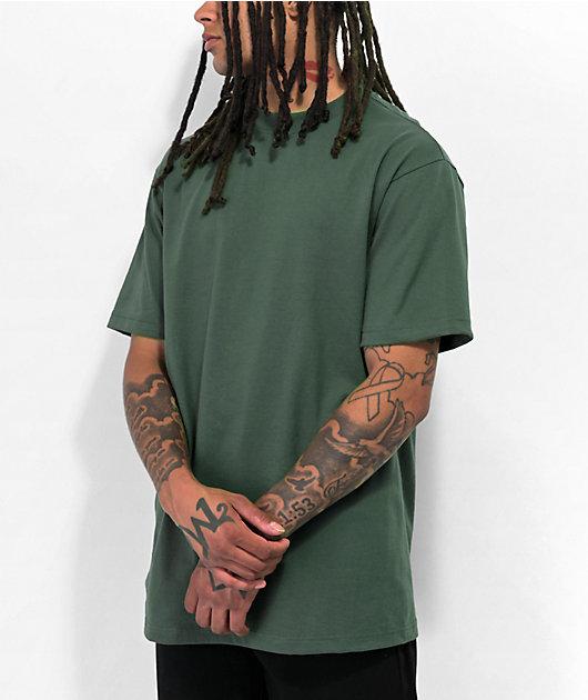 Shaka Wear Max camiseta verde musgo de peso pesado