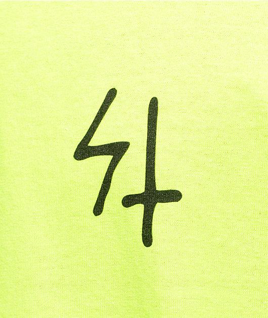 Sketchy Tank Shock Neon Yellow T-Shirt