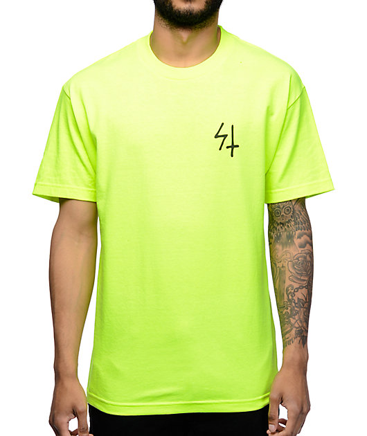 Sketchy Tank Shock Neon Yellow T-Shirt