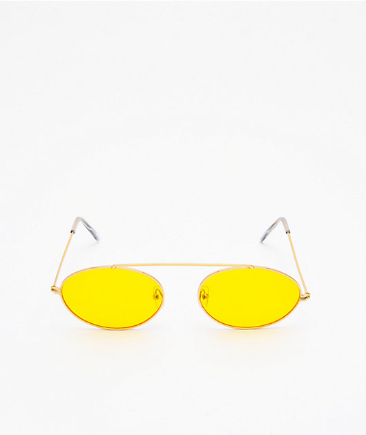 Slam Jam Yellow & Gold Sunglasses
