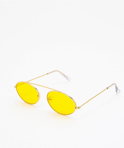 Slam Jam gafas de sol de oro y amarillas