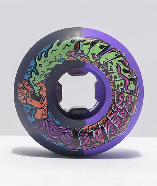 Slime Balls Greetings Speed Balls 53mm 99a Purple & Black Skateboard Wheels