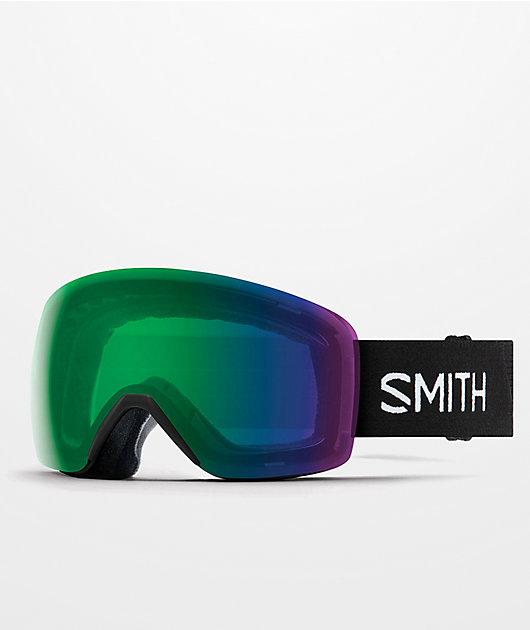Smith Skyline Black & Everyday Green Snowboard Goggles