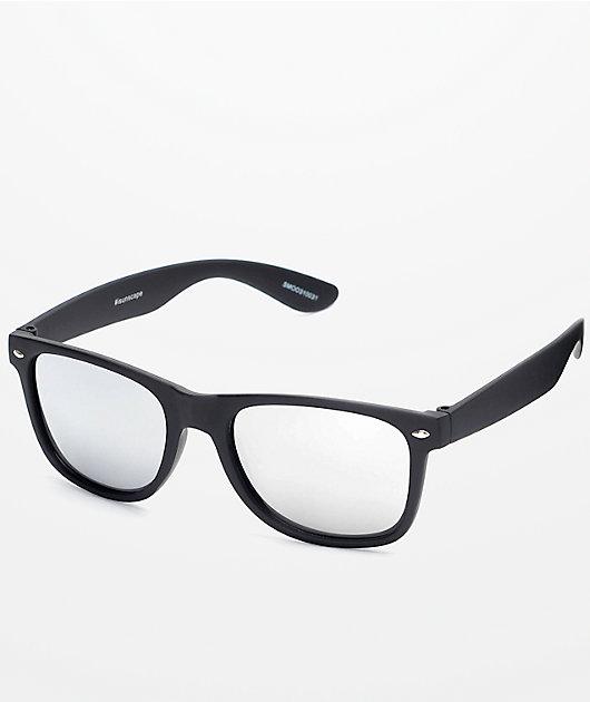Smooth Operator Black & Silver Mirror Lens Sunglasses