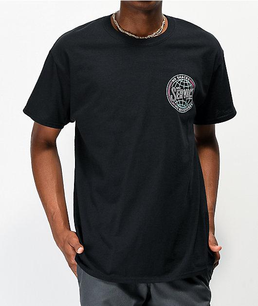 Snackboyz No Service Black T-Shirt