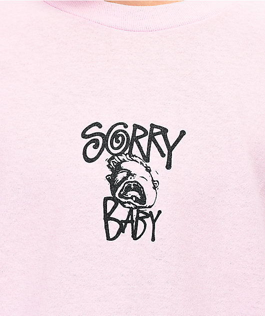 Sorry Baby Logo camiseta rosa de manga larga