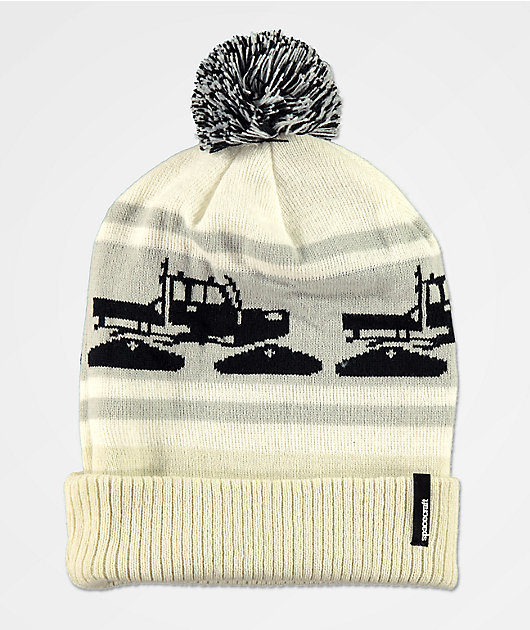 Spacecraft Snowcat White Pom Beanie
