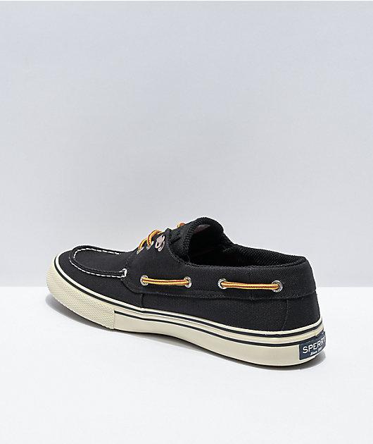 Sperry Bahama Storm Black Canvas Shoes