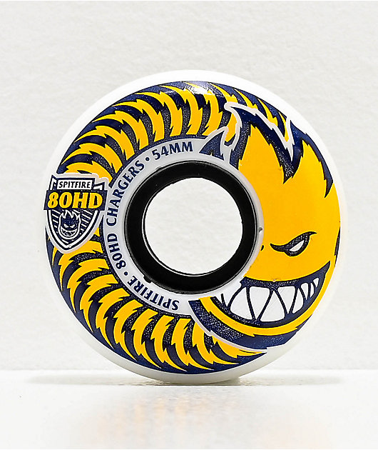 Spitfire Chargers Conical 54mm 80HD White Skateboard Wheels