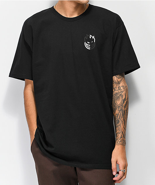 Spitfire Checkered Swirl Black T-Shirt