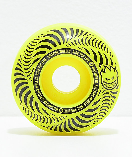 Spitfire Flashpoint 48mm 99a Yellow Skateboard Wheels