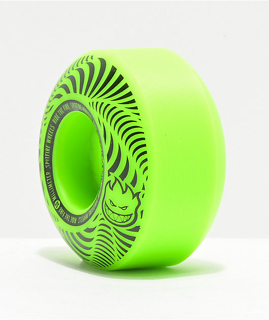 Spitfire Flashpoint 50mm 99a Green Skateboard Wheels