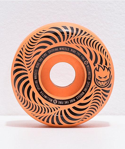 Spitfire Flashpoint 50mm 99a Orange Skateboard Wheels
