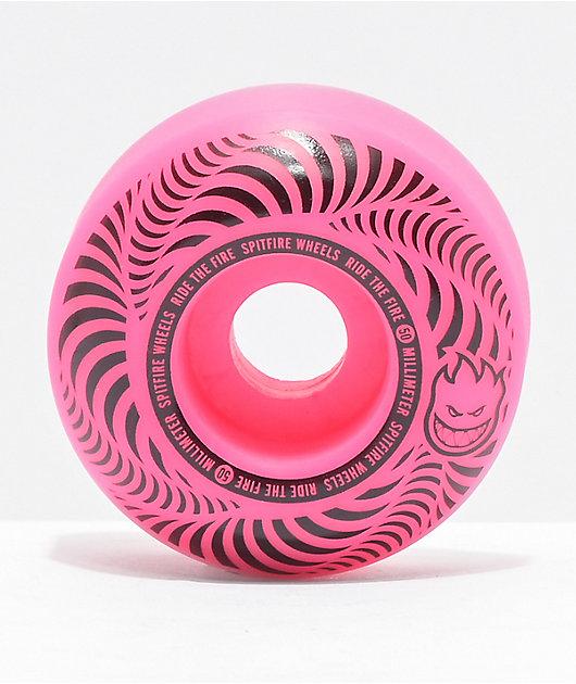 Spitfire Flashpoint 50mm 99a Pink Skateboard Wheels