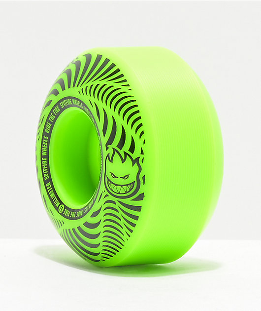 Spitfire Flashpoint 51mm 99a Green Skateboard Wheels