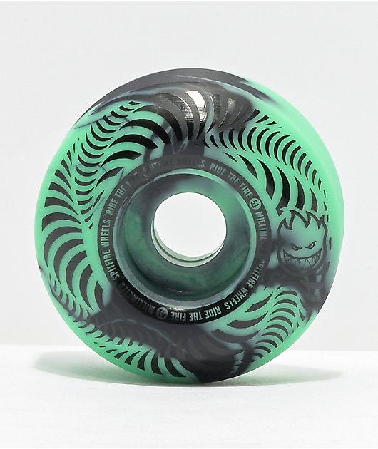 Spitfire Flashpoint 51mm 99a Turquoise & Black Skateboard Wheels